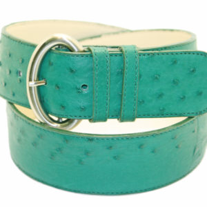 LADIES' FIGURE OSTRICH BELT WITH BUCKLE