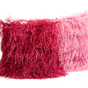 CUSHION LARGE COVERED IN FRINGING