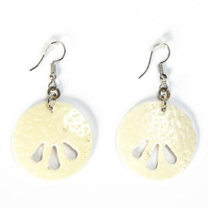 Earring Ostrich Eggshell Round/00017-Chic