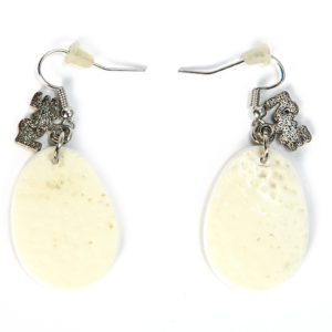Earring Ostrich Eggshell Oval-charm/00098-Chic